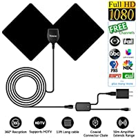 Yosoo Indoor TV Digital HDTV Antenna (Black)