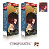 2 X Farger R/mix Premium Permanent Hair Dye Color Cream Red Punk Goth XXL Equals 2 Dye Boxes [Get Free Tomato Facial Mask ]+++