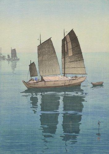 (Japanese Art Print - Sailing Boats by Yoshida Hiroshi (Forenoon))