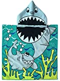 Polly House Children Hooded Beach Towel, Shower Bath Robes, Swim Coverup, Water Activities Towel for Boy/Girls, Soft and Strong Absorbent (07)