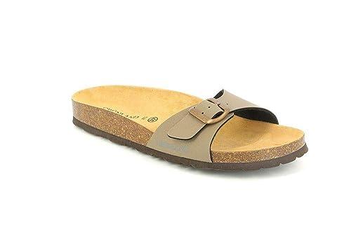 negozio online fb15d 7ce51 Grunland CB0024 SARA Ciabatta Donna S. Tortora 35: Amazon.co ...