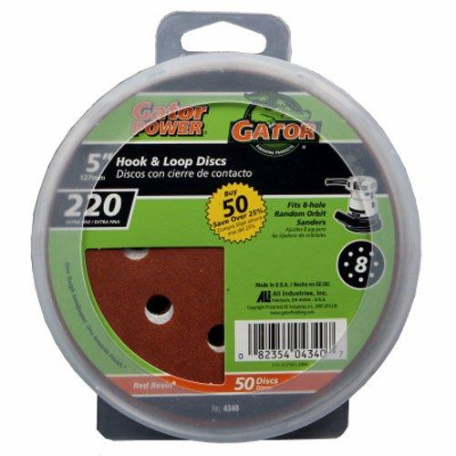 Gator Finishing 4340 220 Grit Aluminum Oxide Sanding Discs (50 pack), 5