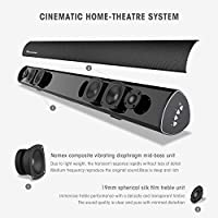 """Sound Bar, Wohome TV Soundbar S9920 Pro Wireless Bluetooth and Wired Home Theater Speaker System (40"""", 6 Drivers, 80W,105dB Audio Output,3D Surround Sound Remote Control, Updated Version for S9920) from Wohome"""