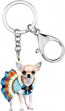 Chihuahua Dog Key Fob Fabric Key Chain