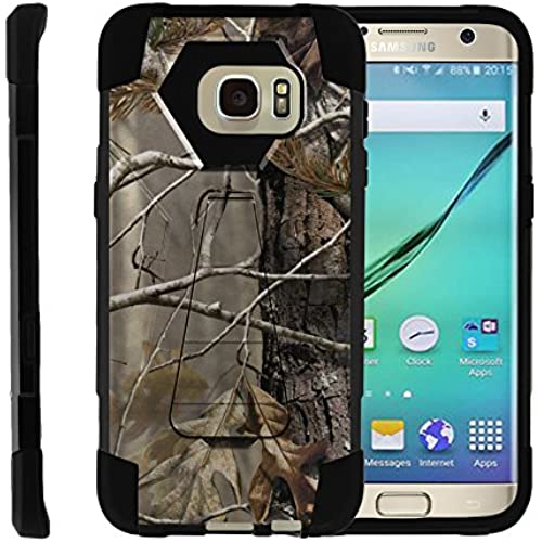 Samsung Galaxy S7 Edge, Full Body Fusion SHOCK Impact Kickstand Case with Exclusive Illustrations by Miniturtle - Fallen Leaves Camouflage Sales