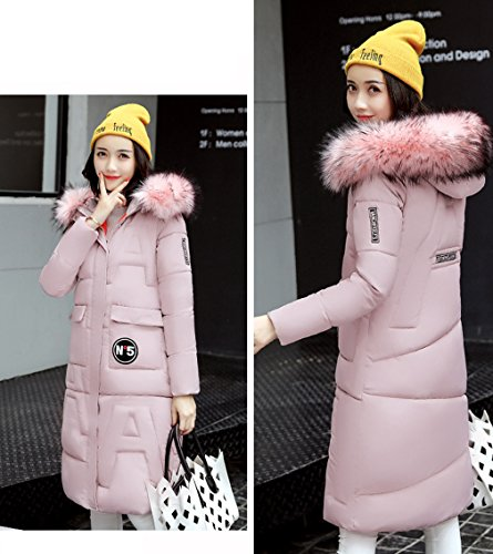 Long Down Coat Jacket Pink Down Winter Thicken Women's Overcoat Bigood Parka wgqX1xxZ