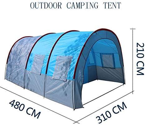 LBYLY Outdoor-Camping Doppelschicht EIN Raum Zwei Halle Tunnel Multiplayer-Team SportausrüStung Bergcamping Liefert Baldachin Zelt