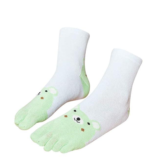2019 Invierno Niños Animal Patchwork Toe Calcetines Calcetines De Cinco Dedos Calcetines Divertidos De Algodón: Amazon.es: Ropa y accesorios