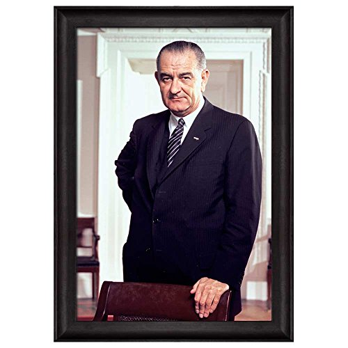 Portrait of Lyndon B Johnson (36th President of the United States) American Presidents Series Framed Art Print
