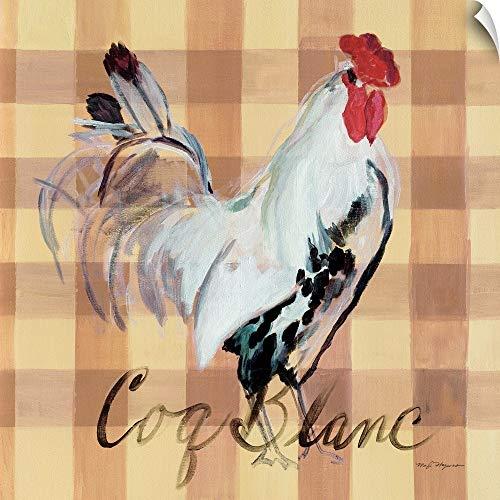 CANVAS ON DEMAND Coq Blanc Wall Peel Art Print, 10