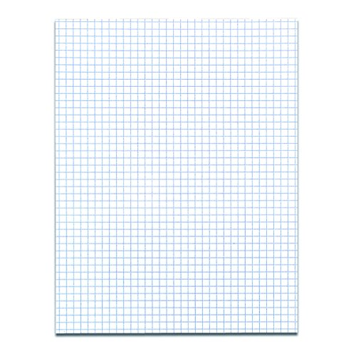 Case of 72 Gummed Pads, 8.5''x11'', 50 sheets 15# White Paper Per Pad, 12 Pads Per pack, 3-Hole Punched, glued, 4x4 graph Ruled by Roaring Spring (Image #1)