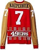 KLEW NFL San Francisco 49ers Kaepernick C. #7 2015 Player Ugly Sweater, Medium, Red