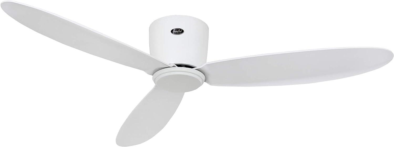 Casafan Ventilador para techos Bajos Eco Plano II 311283 - 112cm / hasta 15m2 (Blanco)