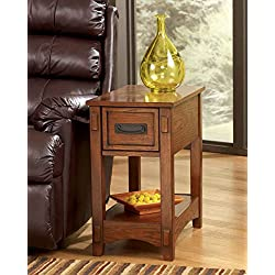Signature Design by Ashley Contemporary Brown Living Room Chairside End Table
