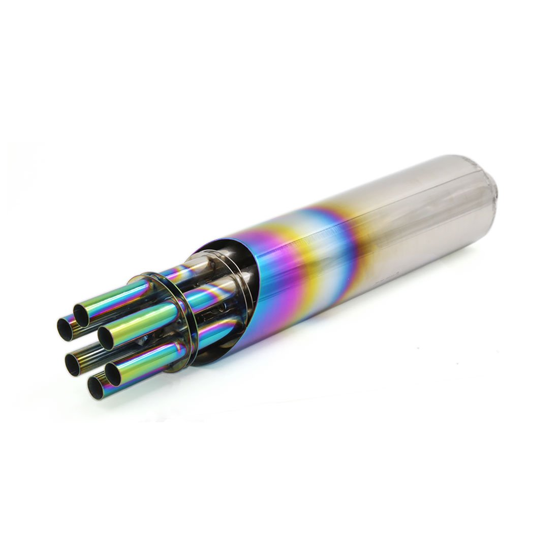 sourcingmap Moto universelle Mitrailleuse Coloré tuyau échappement échappement style 31mm admission a16032200ux0720