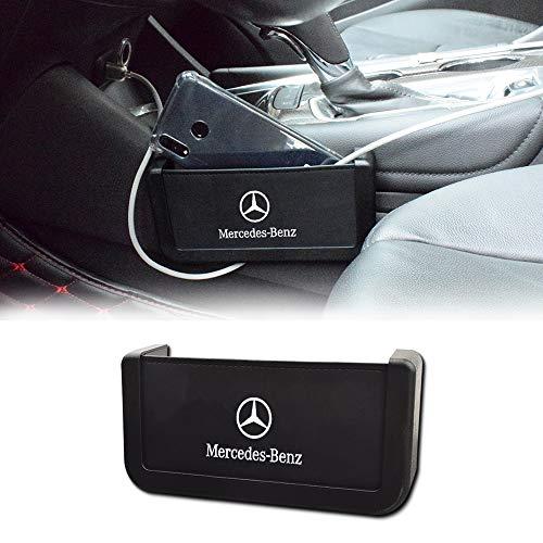 MASHA Compatible Mercedes Benz Car Seat Gap Organizer Car Storage Box with Charging Ports Car Console Side Organizer Fit for Mercedes Benz Car Interior Accessories