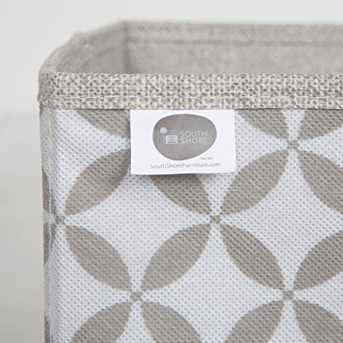 South Shore Storit Fabric Storage Baskets with Pattern (2 Pack), Taupe and White by South Shore (Image #2)