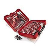 Craftsman 100-pc Accessory Kit. This Mechanics Tool Set Includes A Variety Of Professional Tools Like Phillips, Driving, Flat, Screwdriver And Drilling Bits, Universal Joint, Hex Key & Drill Stops