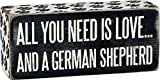 Primitives by Kathy Box Sign, 2.5-Inch by 6-Inch, German Shepherd