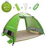 R ? HORSE Outdoors Large Pop Up Beach Tent Instant Easy Up Cabana Large 3-4 Person Anti UV Portable Automatic Sun Shelter For Sport Fishing Review