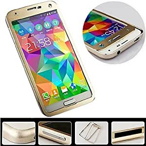 QYF Slide-Down Style Protective Aluminum Alloy Bumper Frame for Samsung Galaxy S5 I9600 , Silver