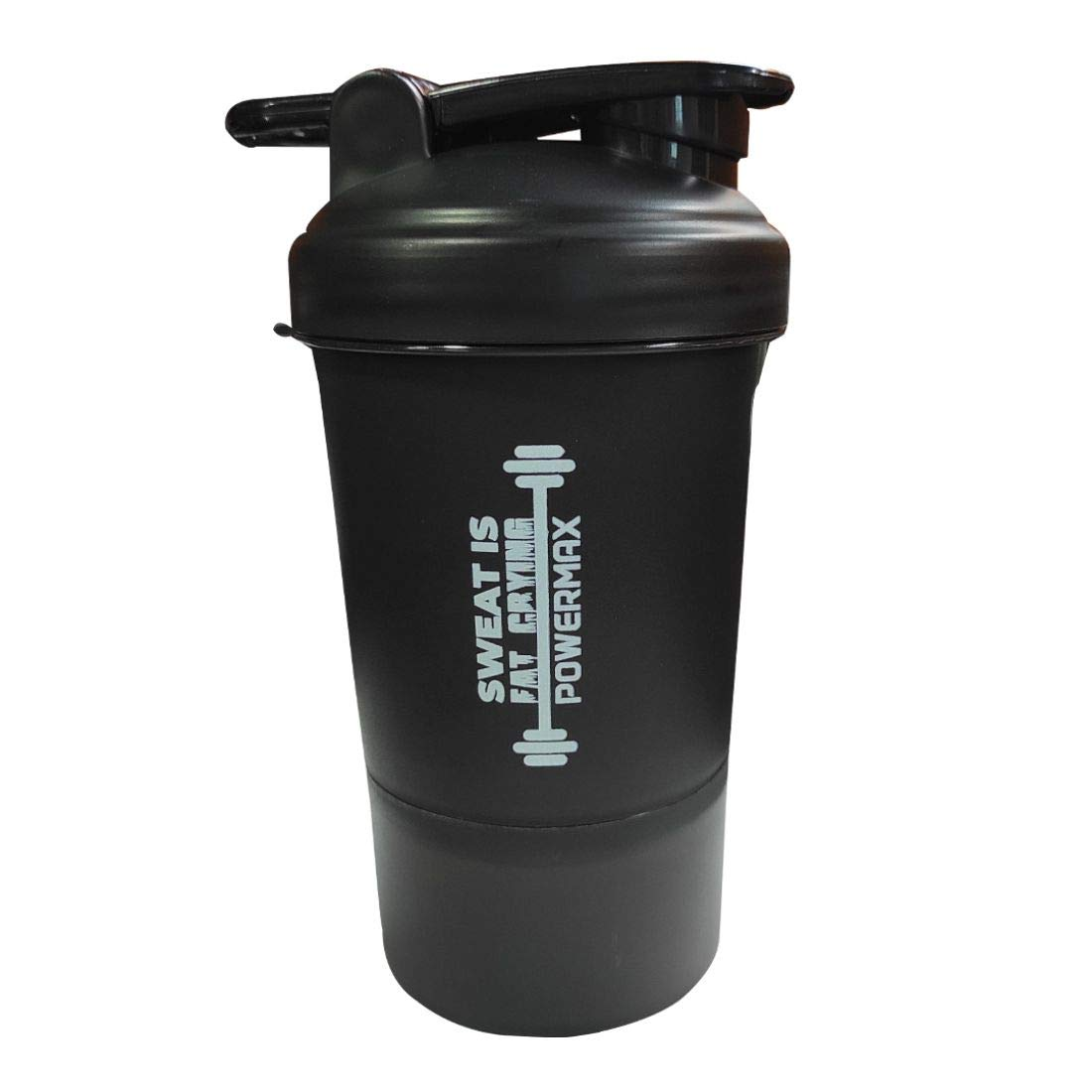 PowerMax Fitness Protein Shaker Bottle with Twist n' Lock