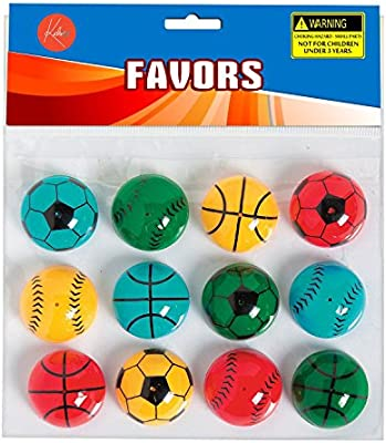 Bag Stuffers Fun Gift Emoji Pop-up Poppers 1.25 Inches Pack of 16 Assorted Cool Emoticons by Kidsco Pi/ñata Fillers Toy for Kids Boys and Girls Great Party Favors Prize