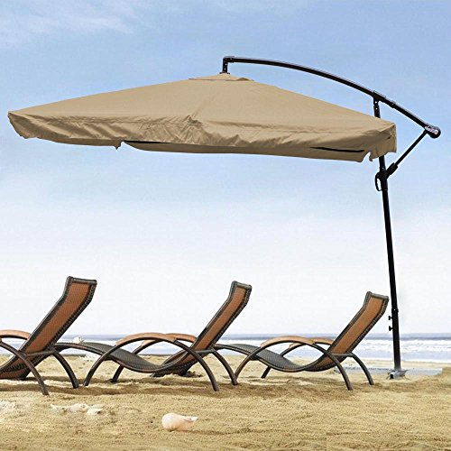 Yescom Outdoor Aluminum Umbrella Sunshade