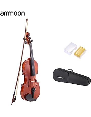 ammoon - Violín acústico de acabado natural con cuerpo hecho de madera