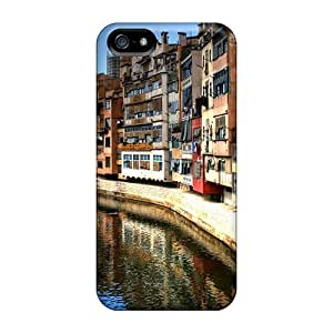 Snap-on Typical City Neighborhood By A River Case Cover Skin Compatible With Iphone 5/5s