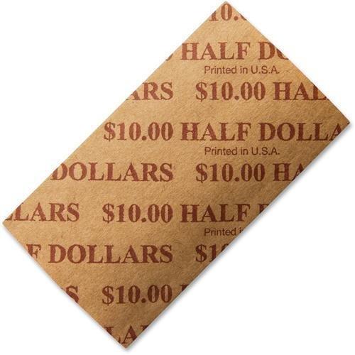 53050 PM SecurIT $10 Half-dollars Coin Wrapper – 1000 Wrap(s) – Sturdy – Kraft – Buff