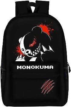 Anime Danganronpa backpack USB charging student school book Bag travel bag