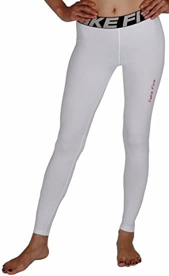 191eb45ee3 New 139 Skin Tights Compression Leggings Base Layer White Running Pants  Womens (S)