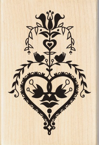 EK Success Brands 60-00888 Inkadinkado Wood Stamp, Folk Art - Wood Custom Brand