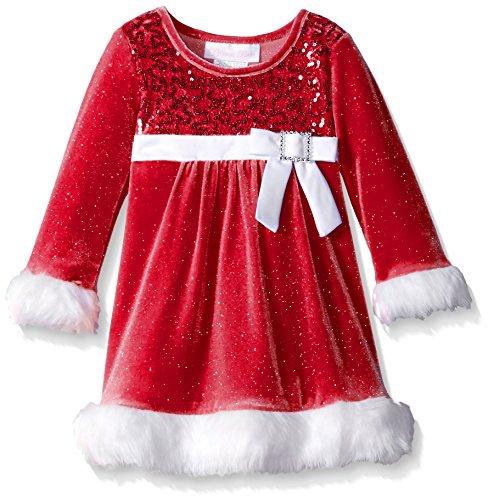 Christmas Themed Dresses - Bonnie Baby Santa Dress