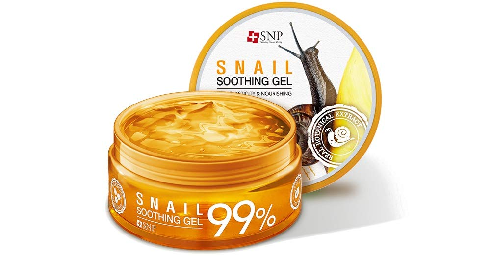SNP - 99% Snail Soothing Gel - Maximum Cooling & Moisturization for All Sensitive Skin Types - Excellent After Sun Care Relief - 300g
