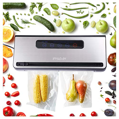 PARTU Vacuum Sealer Machine For Keeping Fresh On Summer Dry/Moist Mode || Include Vacuum Bag (11'' x 118'')Applicable to External Suction Pipe/Fresh-keeping Tank And Clothes Storage Bag by PARTU (Image #5)