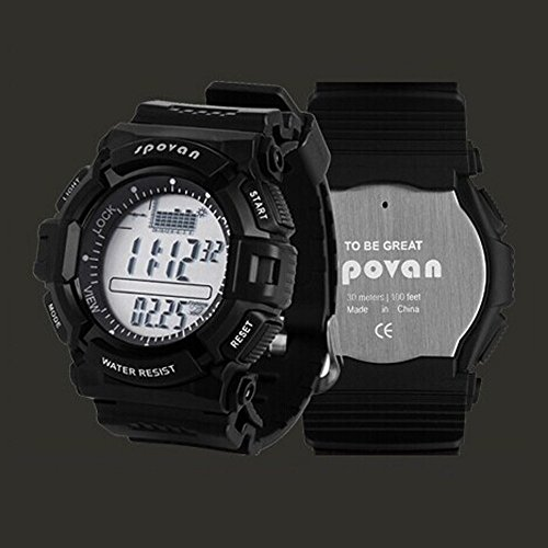 DGYAO® Sport Watch Men's Watch with Compass Altimeter Barometer Temperature Weather Forecast Air Pressure Record Shockproof Waterproof(PI55) Watch Best for Fishing Hiking Camping