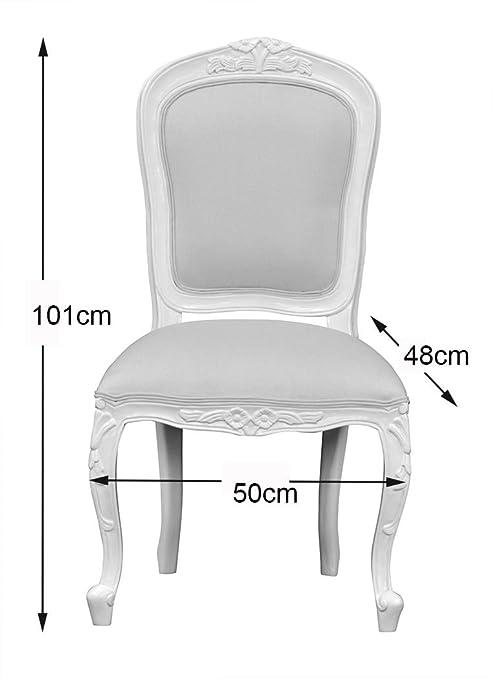 Chantilly dormitorio silla - francés marfil tapicería de ...