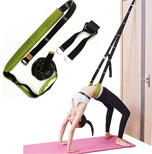 Xemz Back Bend Assist Trainer - Improve Back and Waist Flexibility, Door Flexibility Stretching Strap, Home Equipment for Ballet, Dance, Yoga, Gymnastics, Cheerleading, Splits (Green)