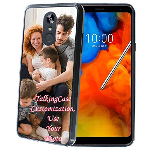 TalkingCase Customization,Personalized Phone Cover for LG Stylo 4 / Stylo 4 Plus,Black Premium Thin Edge Bumper Case,Your Family Photo,Designed and Printed in USA