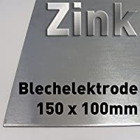 Cinc ánodo/electrodo/chapa de metal (15 x 10 cm)