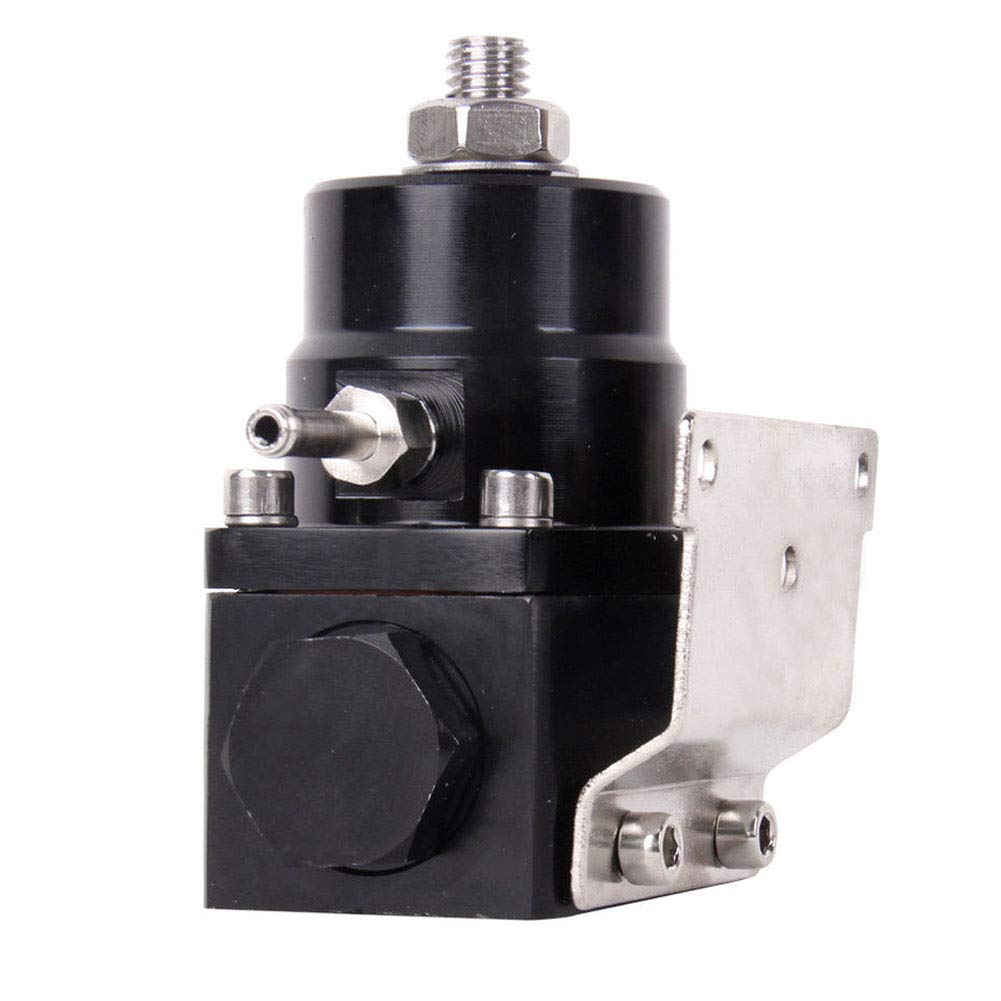 Shentesel Fuel Pressure Regulator 100psi Gauge an 6 End Fittings Kit Adjustable Universal - Black by Shentesel