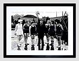 VINTAGE GROUP PORTRAIT MOVIE STAR BUSTER KEATON FRAMED ART PRINT MOUNT B12X3479