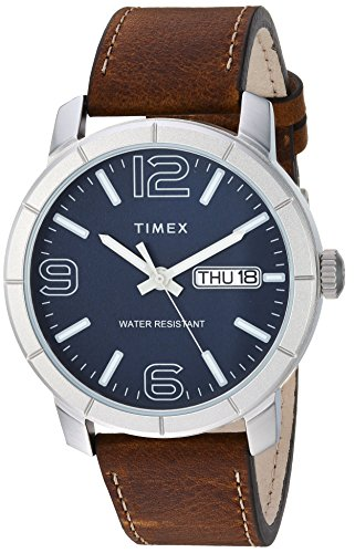 Timex Men's TW2R64200 Mod 44 Brown/Blue Leather Strap Watch