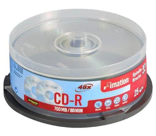 25 x CD-R 80min Imation storage media spindle 52x 700 MB