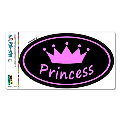 Princess Crown Pink Spoiled - Euro Oval MAG-NEATO'S™ Automotive Car Refrigerator Locker Vinyl - Princess Crown Water