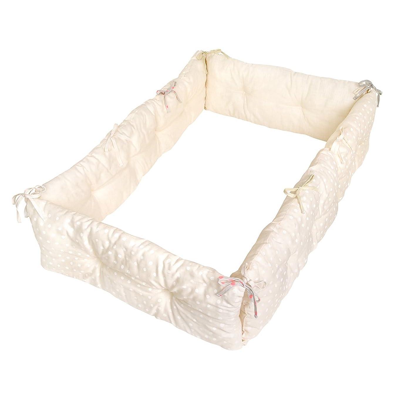 大惨事採用反対したBABYBBZ ベッドフェンス ベットガード 無添加素材 布団ずれ 蹴り出し お子様のベッドからの 転落防止 取り付け簡単 幅150cm ベージュ 1枚セット 子供用 出産お祝い