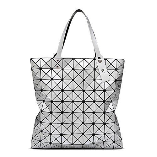 HT Shoulder Bag - Bolso de asas para mujer plata
