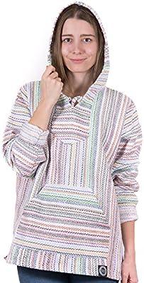 Baja Hoodie Size Small Surfer Skater Drug Rug Hippie Pullover Poncho Jacket